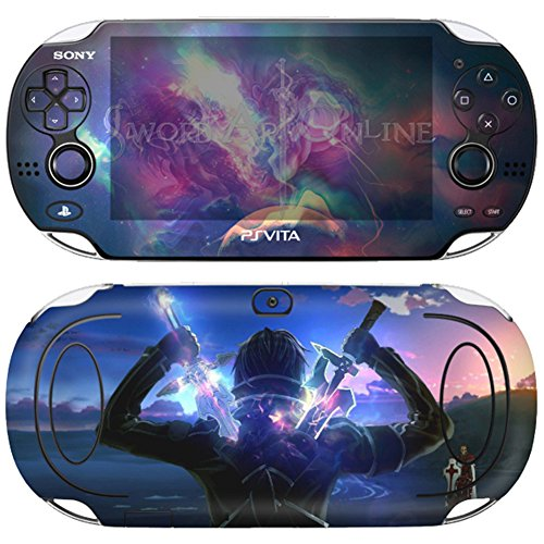Premium Skin Decals Stickers For PlayStation VITA Original 1st Generation PCH-1000 Series Consoles - POP SKIN SAO #08 + Free Gift Screen Protector Film + Wallpaper Screen Image ()