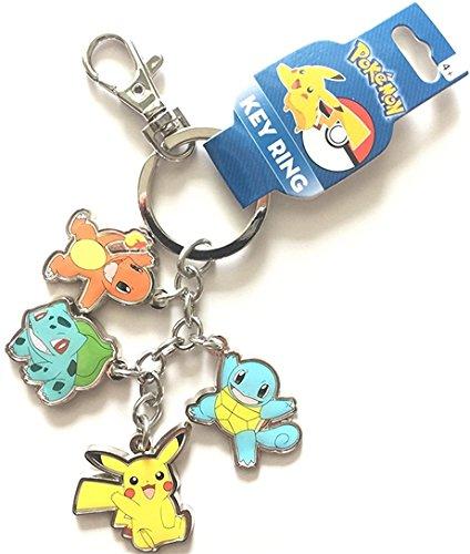 Charm Metal Keychain (Pokemon Character Pikachu, Bulbasaur, Charmander, Squirtle Metal charm keychain Keychain)