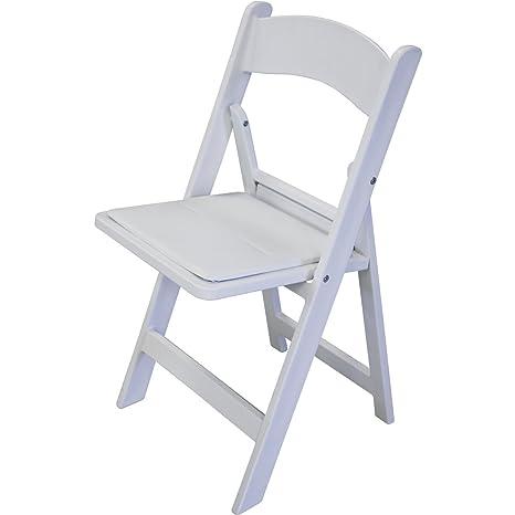 Celina tienda blanco resina silla plegable (caja de 4 ...