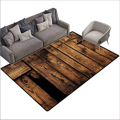 Dining Table Rugs Farmland,Rustic Old Timber Design 36