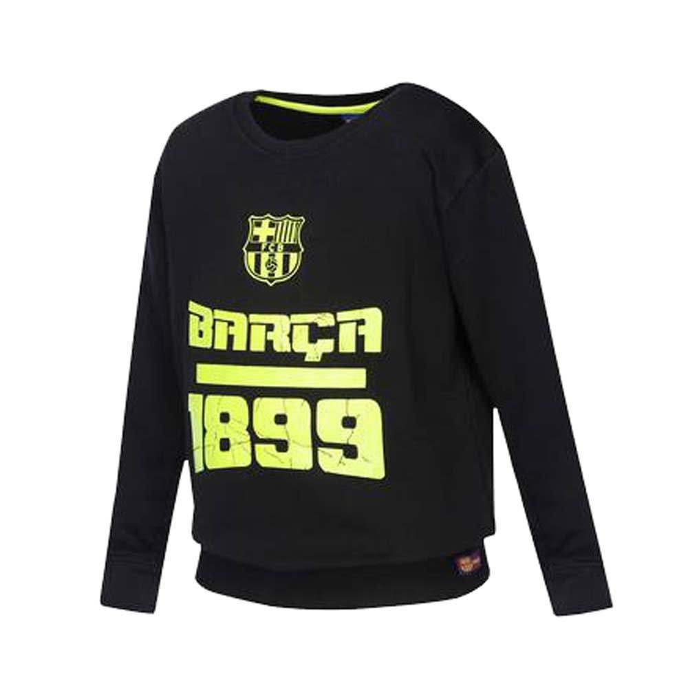 de4db3c1e FC BARCELONA Boys Round Neck Printed Sweatshirt  Amazon.in  Clothing    Accessories