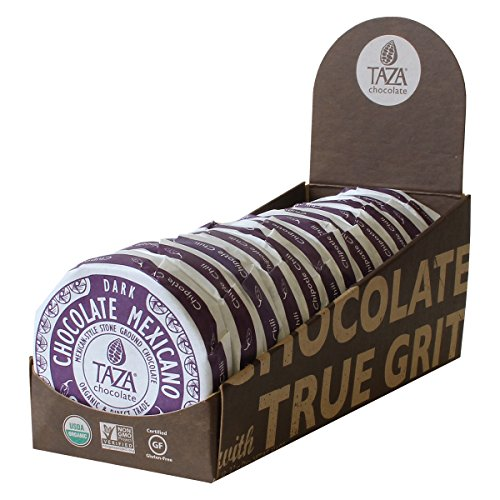 Taza Chocolate | Mexicano Disc | Chipotle Chili | 50% Dark Chocolate | Certified Organic | Non-GMO | 2.7 Ounce (12 Count) made in New England