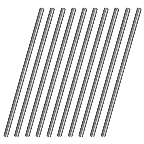 CNBTR Silver HSS High Speed Steel Round Turning Lathe Bars 100MM x 3.5MM Pack of 10 - Fbm Bar