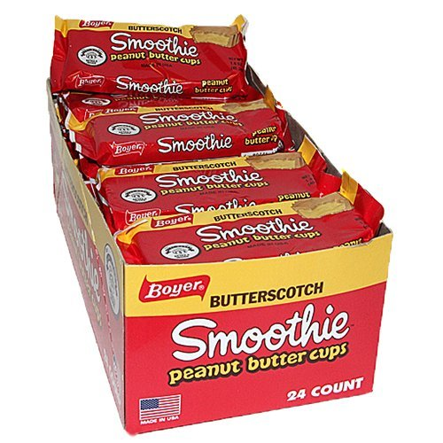 - Boyer Butterscotch Peanut Butter Smoothie Cup Candy 24ct Case