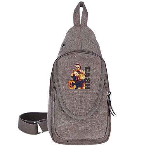 Westgn Johnny Cash Cool Outdoor Sports Casual Canvas Unbalance Backpack Crossbody Sling Bag Shoulder Bag Chest - Shopping Folsom