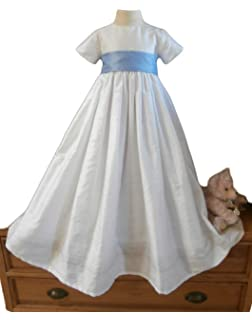 f3ba15723 ShineGown Christening Gown of Baby Boys Girls Baptism Outfit with Bonnet Short  Sleeves 0-24months