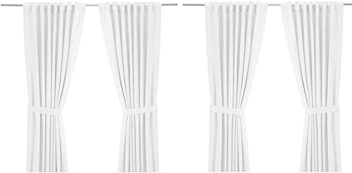 IKEA Ritva White Curtain Set – Size W 57 x L98 2 Pair, White