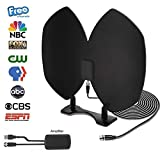 [NEWEST 2018] HD Digital TV Antenna,Indoor Amplified TV Antenna 50 Mile Rande with USB Power Supply,Detachable Amplifier Signal Booster,Longer 20FT High Performance Coaxial Cable-Upgraded Version