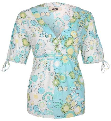 usha - Camisas - manga 3/4 - para mujer Pool
