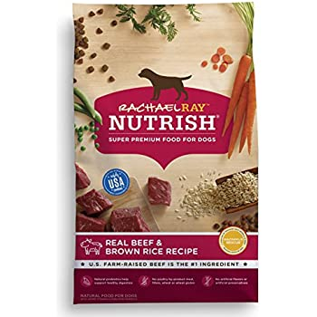 Rachael Ray Nutrish Natural Dry Dog Food, Real Beef & Brown Rice Recipe, 28 lbs