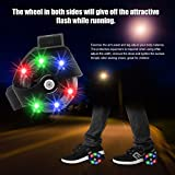 Tmalltide Colorful Flashing Small Whirlwind Pulley Adjustable Simply Roller Skating Shoes