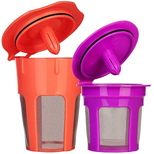 K Carafe Reusable Coffee Filter and Refillable K Cup by Breworo for Keurig 2.0 K300, K350, K400, K450, K460, K500, K550, K560 and 1.0 Brewers (Carafe Refillable Filters compare prices)