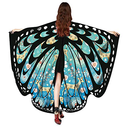 Coohole-01 Butterfly Wings Shawl Scarves, Women Festival Props