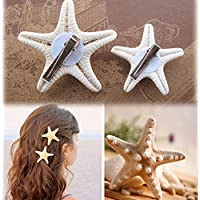 New Fashion Elegant Girls Pretty Natural Starfish Star Hairpin Hair Clip 2pcs