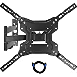 Go On GOTM2660 TV Wall Mount with Full Motion Swivel Articulating Arms and 6-Feet Cable for 23 to 55-Inch Flat Screen