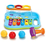 JOYIN Baby Pound & Tap Bench Xylophone Musical Toy with Color Sorting Balls and Hammer Pounding Toy for Toddlers