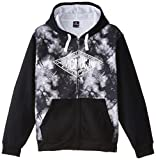 Southpole Men's Big-Tall Full Zip Hoodie with Funky Tie Dye