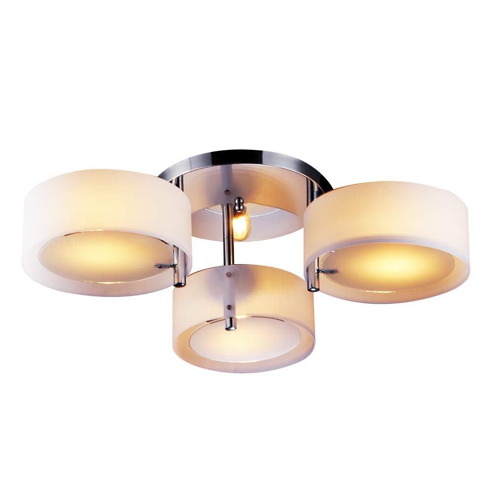Lightinthebox chandelier modern living 3 lights modern home ceiling light fixture flush mount pendant light chandeliers lighting for study room office