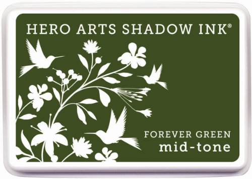 Hero Arts Rubber Stamps Mid-Tone Shadow Ink Stamp Pad, Forever Green