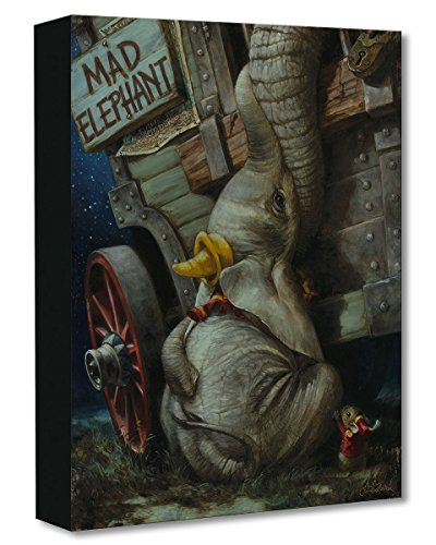 Disney Fine Art Baby of Mine by Heather Theurer Treasures on Canvas Dumbo 16 Inches x 12 Inches Reproduction Giclee on Gallery-Wrapped Canvas Wall Art