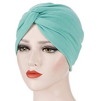 Longra Femmes Perlage Inde Chapeau Musulman Ébouriffer Casquette Réglable  Casquettes Cancer Chimio Bonnet Écharpe Turban Casquette d43c5947c2d