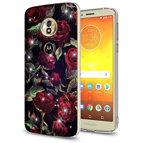 GORGCASE Moto E5 Plus Case, Moto E5 Supra Case with Screen Protector,Slim Anti-Scratch Armor Shock-Proof Cute Thin Girls Women Protective Cover for Motorola Moto E Plus (5th Gen) 2018 Rose Black