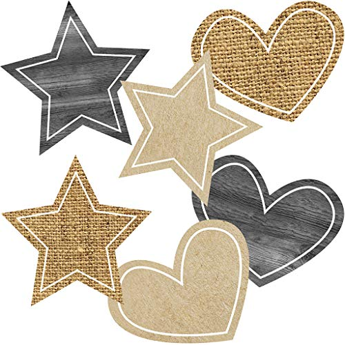 Simply Stylish Burlap Stars and Hearts Cut-Outs ()