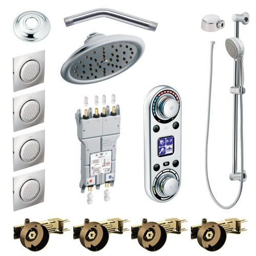 Moen KSPIO-HSB-TS297CR Vertical Spa Kit with Handheld Shower and Slide Bar, ()