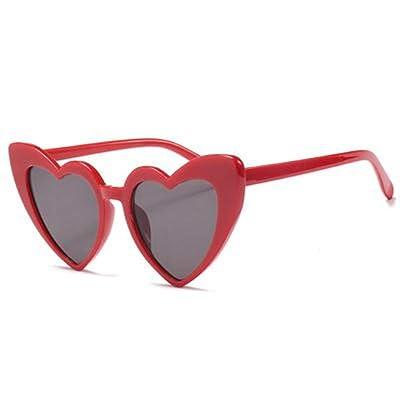 ZRTYJ Sunglasses New Love Heart Sunglasses Mujeres Cat Eye Vintage 7 Colores Sombra Gafas de Sol Mujer: Deportes y aire libre