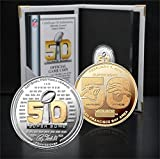 The Highland Mint NFL Denver Broncos vs Carolina Panthers Super Bowl 50 Official Two Tone Flip Coin, Brown