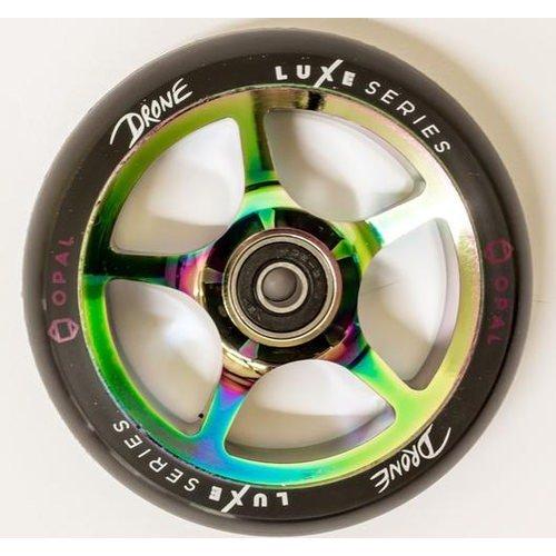 ドローンLuxe 110 mm WheelsオパールNeochrome Oil Slick (ペア)