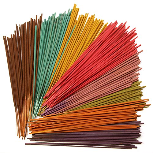 Hosley 480 Pack Assorted Incense Sticks of 40 Sticks Each Like: Earth, Warm Spice, Nag Champa, Floral Fields and 8 Additional Random Grab Bag Fragrances. Ideal for Home, Spa, Meditation, Aromatherapy.