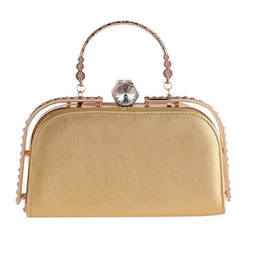 Bag Cuir Sac Mode Sac Dîner Main Diamant Ladies D'embrayage Gold Des Evening Minimaliste Femmes D'unité Banquet Main à Sac Décontracté De De De De En Sac Centrale à 57BnBq0x