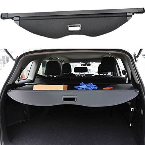 Danti Black Retractable Rear Trunk Cargo Luggage Security Shade Cover Shield for Ford Escape 2013 2014 2015 2016 2017 2018