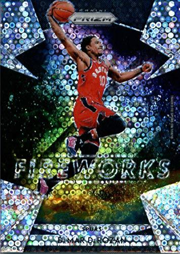 2018-19 Panini Prizm Fireworks Prizms Fast Break #24 DeMar DeRozan San Antonio Spurs Basketball Card