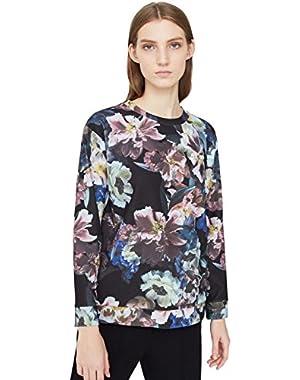 Mango Women's Floral Print Sweatshirt