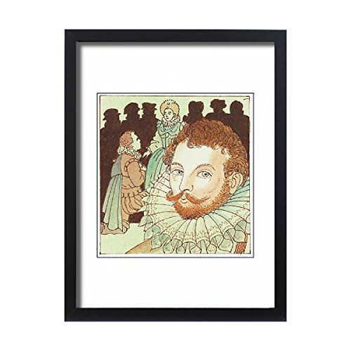 Media Storehouse Framed 24x18 Print of Illustration of portrait of Sir Francis Drake and his knighthood (Francis Drake Costume)