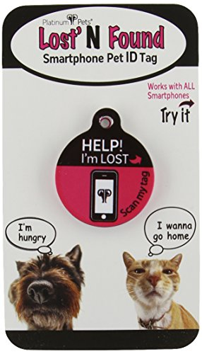 Platinum Pets The Original Smartphone Puppy ID Tag with GPS, Pink (Gps Pet Locator compare prices)