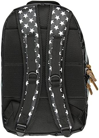 Official Wonder Woman Denim Backpack w Patches Comic Book Superhero Goddess