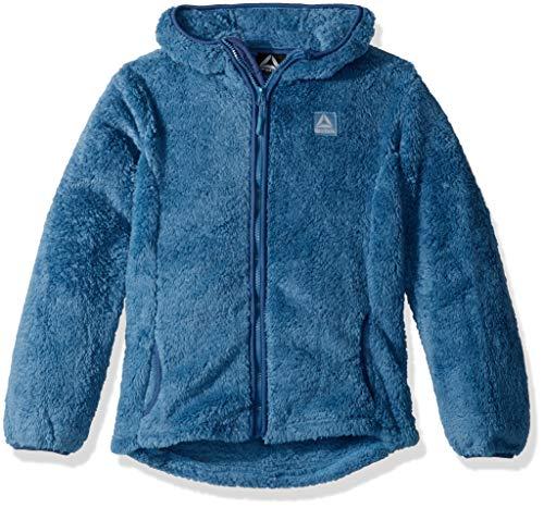 (Reebok Girls' Little Active Heavyweight Fleece Jacket, Blue,)