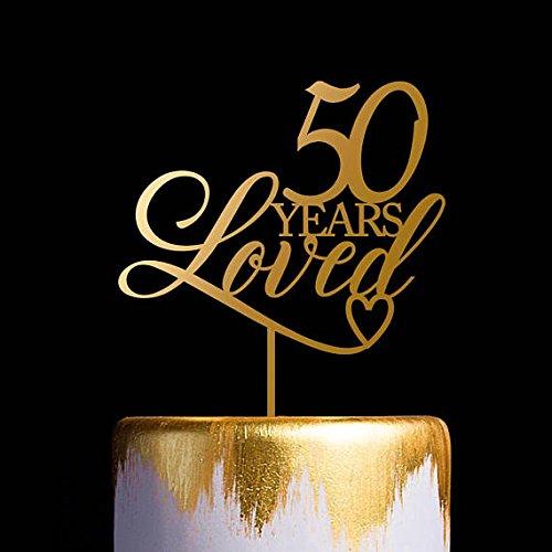 Decoración para tartas de 50 años para tarta de boda, 50 ...