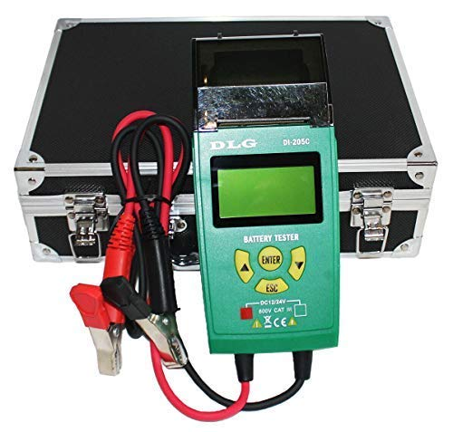 DLG DI-205C 12V 24V Automotive Truck Battery Tester Checking CCA/SOH/Internal Resistance/Starting System/Charging System/Maximum Load System Printer English Spanish Interface by DLG (Image #5)