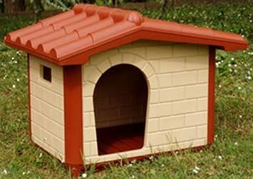 Caseta para perros de talla grande Classic Maxi de plástico Casa de exterior Riparo Jardín 119 x 91 x 88h cm Pastor Golden Labrador: Amazon.es: Jardín