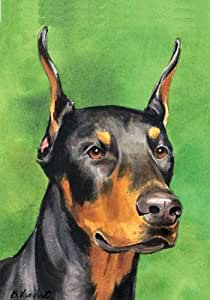 Doberman perro raza patriótico bandera de casa 28x 40pulgadas