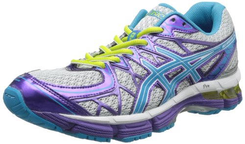 Price comparison product image ASICS Gel-Kayano 20 GS Running Shoe,Platinum/Island Blue/Limeade,7 M US Big Kid