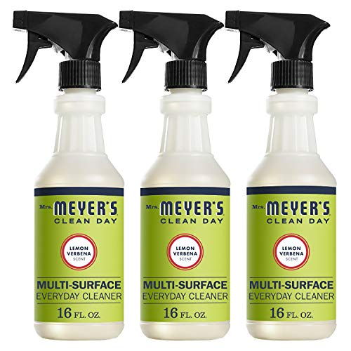 (Mrs. Meyer's Clean Day Multi-Surface Everyday Cleaner, Lemon Verbena, 16 ounce bottle (Pack of 3))