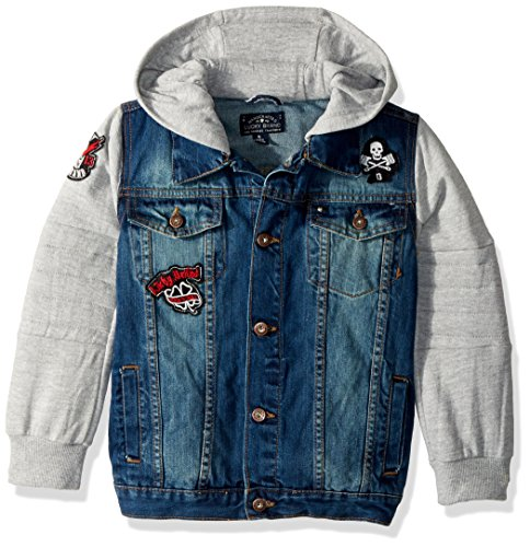 Lucky Brand Boys' Little Denim Motor Jacket, Yorba Linda, 7 by Lucky Brand