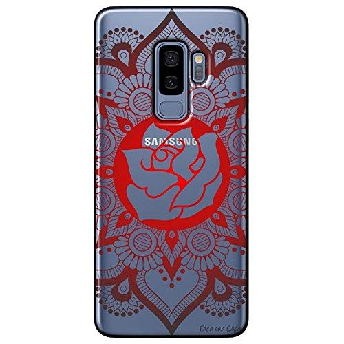 Capa Personalizada Samsung Galaxy S9 Plus G965 - Mandala e Rosa - TP258