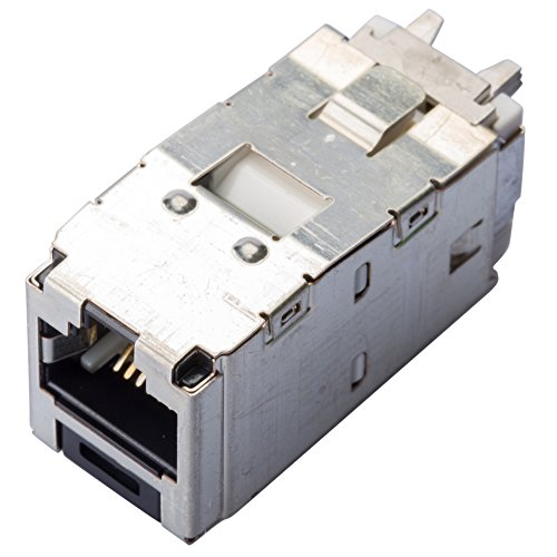 (Panduit CJS688TGY Category-6 8-Wire TG-Style Shielded Jack Module, Black)