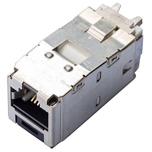 Panduit CJS688TGY Category-6 8-Wire TG-Style Shielded Jack Module, Black